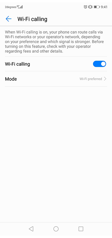 WiFi Calling   2degrees Mobile
